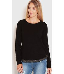 sweater wados detalle borde negro - calce regular