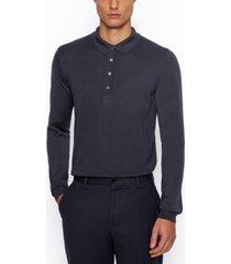 boss men's silk polo shirt