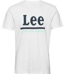 lee stripe tee t-shirts short-sleeved vit lee jeans
