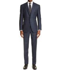 men's big & tall canali sienna soft windowpane wool suit