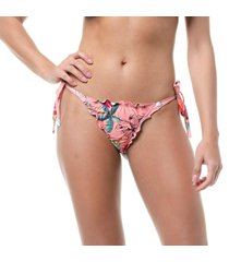 calcinha biquãni ripple empina bumbum amarraã§ã£o lateral conforto praia piscina - rosa - feminino - poliamida - dafiti