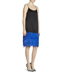 feather skirt slip dress
