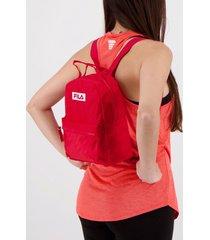 mini mochila fila box feminina vermelha