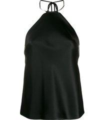 galvan necklace halter top - black