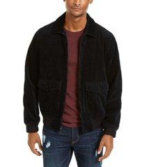 sun + stone men's hazel cord bomber jacket, created for macy's