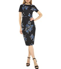 alexia admor women's kristina sheath dress - etched floral - size xs