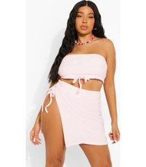 plus badstoffen strand sarong, pastel pink