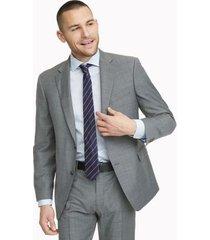 tommy hilfiger men's regular fit essential sharkskin suit grey - 40r
