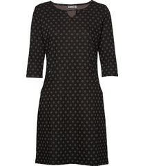 frhidotly 1 dress knälång klänning svart fransa