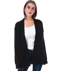 brave soul womens rib cardigan size 10 in black
