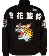 kenzo seasonal logo high neck sweatshirt