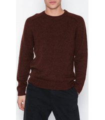 selected homme slhnewcoban wool crew neck w tröjor röd