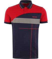 boss martin kaymer paddy polo shirt - red 50403565