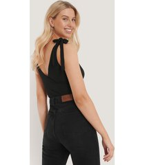 trendyol ribbad body - black