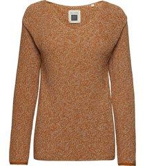 pullover stickad tröja brun marc o'polo