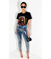 akira on stage sequin skinny jeans