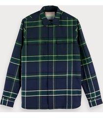 scotch & soda geruit overhemd | regular fit