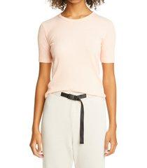 women's john elliott rib crop t-shirt, size 4 - pink