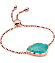 rose gold siren nugget cocktail friendship chain bracelet amazonite