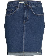 denim mini skirt kort kjol blå superdry