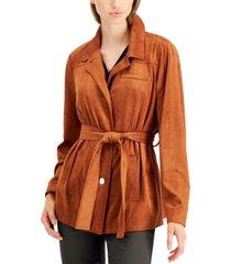alfani tie-waist jacket, created for macy's