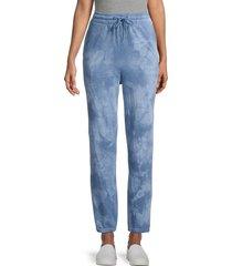 bb dakota women's sky walker tie-dye sweatpants - blue - size m