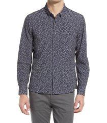 men's 7 diamonds rio grande button-up performance shirt, size x-large - black