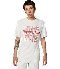 camiseta converse renew graphic white