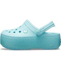 sandália crocs crocband platform clog gs azul