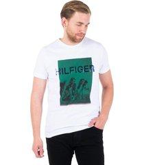 camiseta tommy hilfiger branca rowers photo print tee