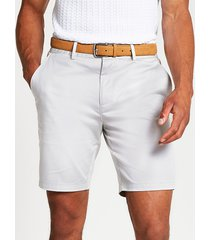 river island mens stone belted slim fit chino shorts