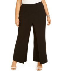 adrianna papell plus size draped dress pants
