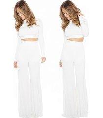 mono de mujer trajes de dos piezas pantalones traje -white