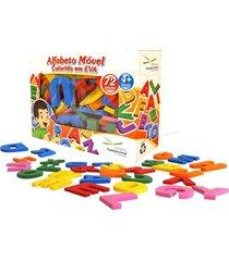 alfabeto móvel colorido eva com 72 peças - fundamental
