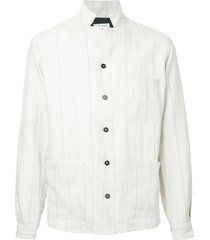 bergfabel checked casual shirt - white