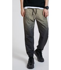 koyye hombres calle elegante ombre color cintura elástica casual pantalones