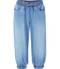 jeans capri in cotone con cinta comoda e polsini elastici (blu) - bpc bonprix collection