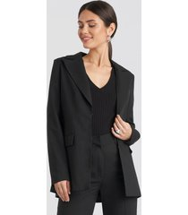 na-kd classic tailored suit blazer - black