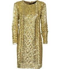 max mara nicia gold dress