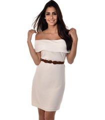 vestido curto banca fashion casual chique off-white