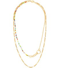 'friendship' 18k gold-plated layered necklace