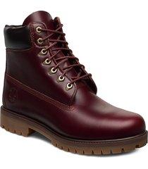 6 inch heritage boot snörade stövlar röd timberland