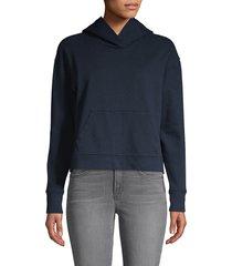 james perse cotton hoodie - white - size 4 (xl)