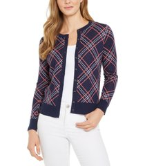 charter club plaid cardigan sweater, created for macy's