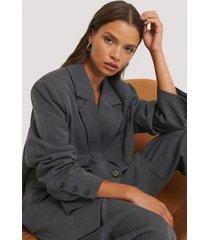 na-kd classic blazer - grey