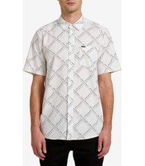 volcom men's high ball short sleeve woven shirt