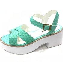 sandalia verde lali ramirez by rh positivo