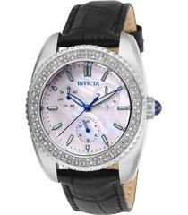 reloj invicta 28585 negro cuero dama