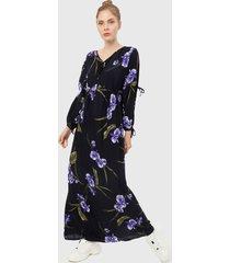 vestido azul oscuro-multicolor paris district