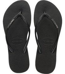 sandalias havaianas slim sparkle negro 4144734